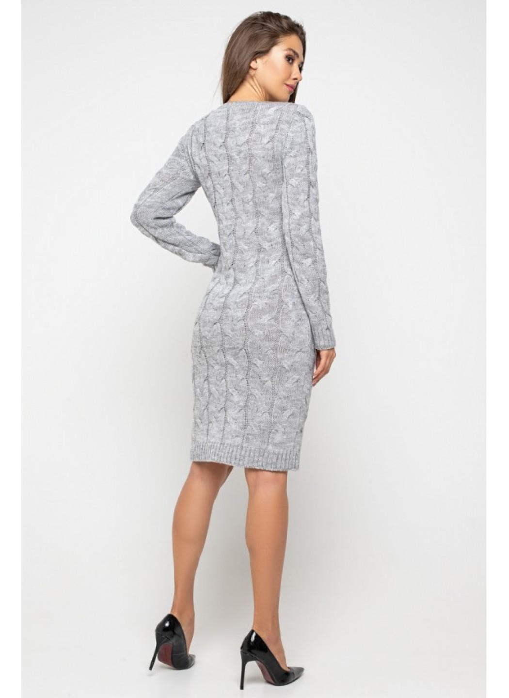 Женское Вязаное Платье Каролина Светло-серый