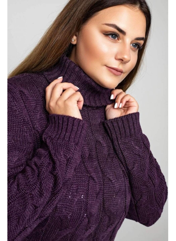 Женское Вязаное платье Сабрина Баклажан - Size+ купить в Украине: фото, цена, характеристики, отзывы - фото 1