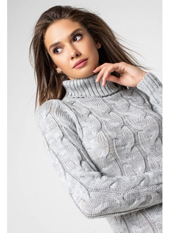 Женское Вязаное платье Сабрина Светло-серый купить в Украине: фото, цена, характеристики, отзывы - фото 2