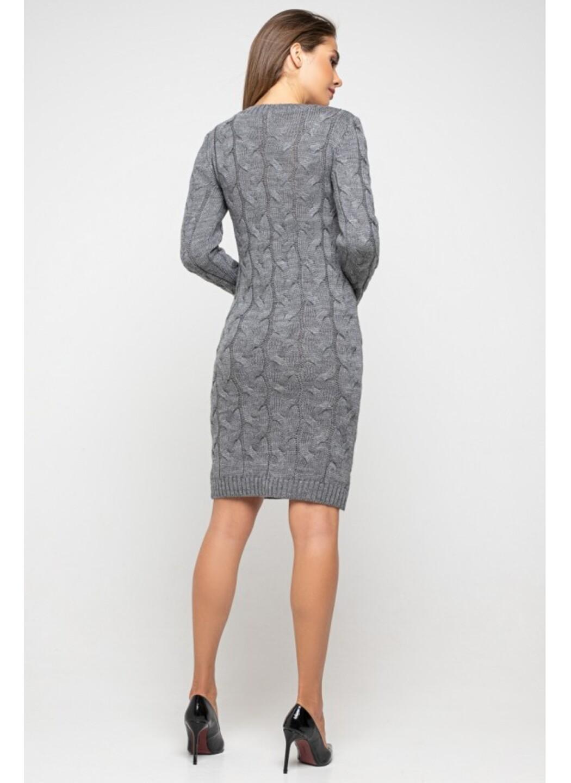 "Вязаное платье ""Каролина""- темно-серый"