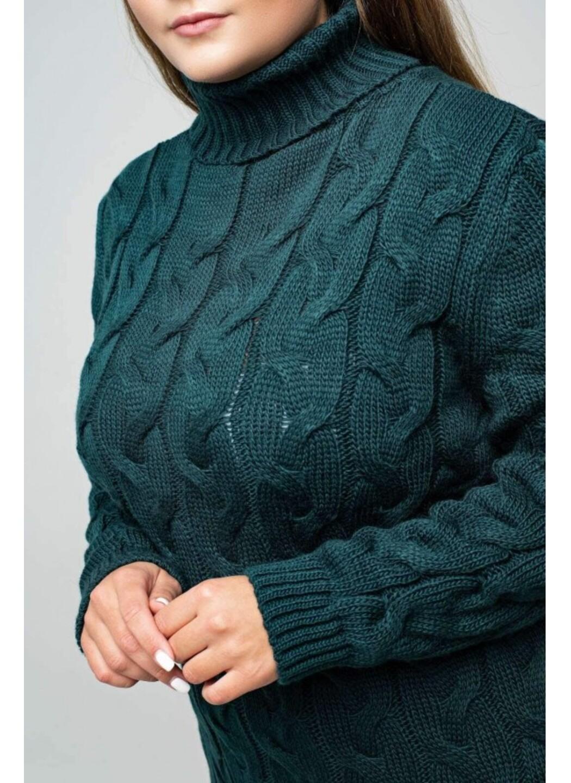 Женское Вязаное платье Сабрина Зеленый Size+ купить в Украине: фото, цена, характеристики, отзывы - фото 1