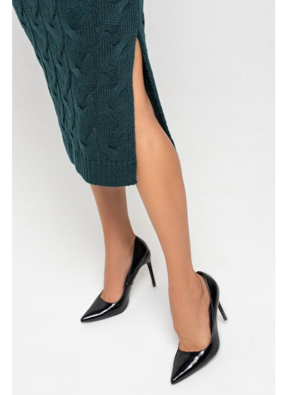 Женское Вязаное платье Ангелина Зеленый купить в Украине: фото, цена, характеристики, отзывы - фото 2
