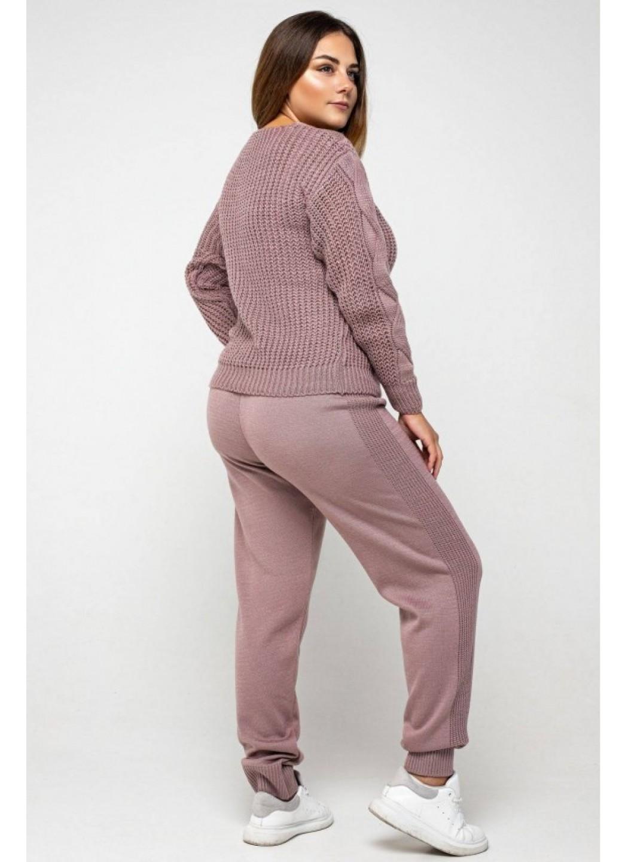 Женский Вязаный костюм Николь Пудра Size+ купить в Украине: фото, цена, характеристики, отзывы - фото 3
