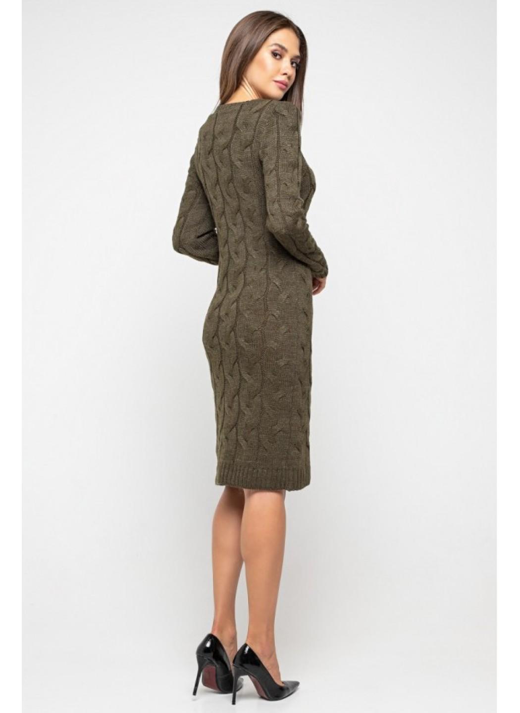 Женское Вязаное Платье Каролина Табак купить в Украине: фото, цена, характеристики, отзывы - фото 2
