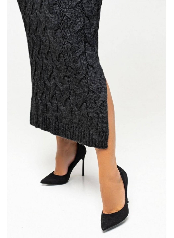 Женское Вязаное Платье Ангелина Черный Size+ купить в Украине: фото, цена, характеристики, отзывы - фото 1