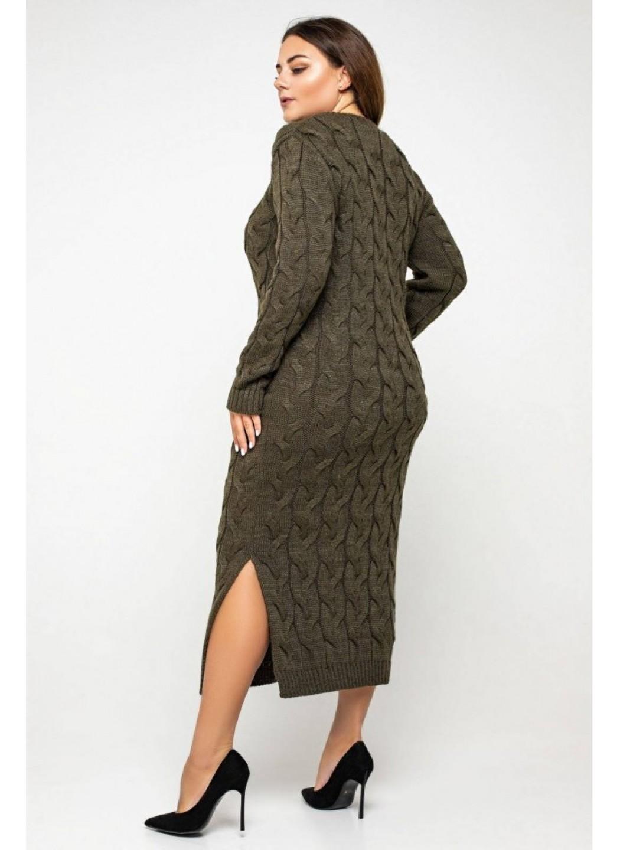 Женское Вязаное Платье Эвелина Табак Size+ купить в Украине: фото, цена, характеристики, отзывы - фото 3