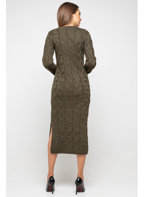 Женское Вязаное Платье Эвелина Табак купить в Украине: фото, цена, характеристики, отзывы - фото 2