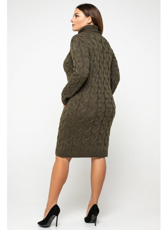 Женское Вязаное платье Сабрина Табак Size+ купить в Украине: фото, цена, характеристики, отзывы - фото 3