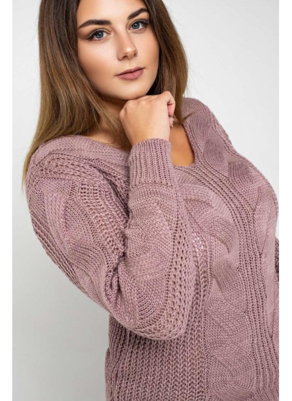 Женский Вязаный костюм Николь Пудра Size+ купить в Украине: фото, цена, характеристики, отзывы - фото 2