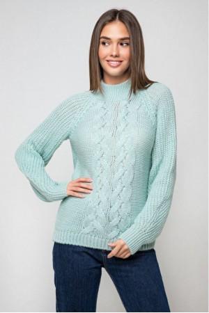 Вязаный свитер «Ника» с люрексом -лед