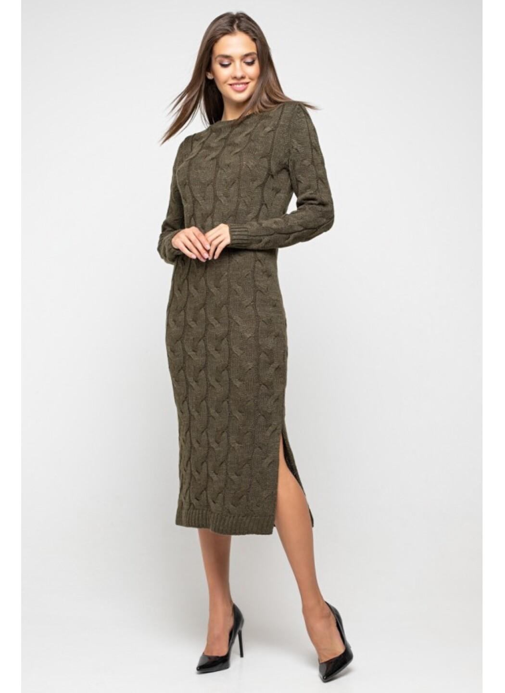Женское Вязаное Платье Эвелина Табак купить в Украине: фото, цена, характеристики, отзывы - фото 1