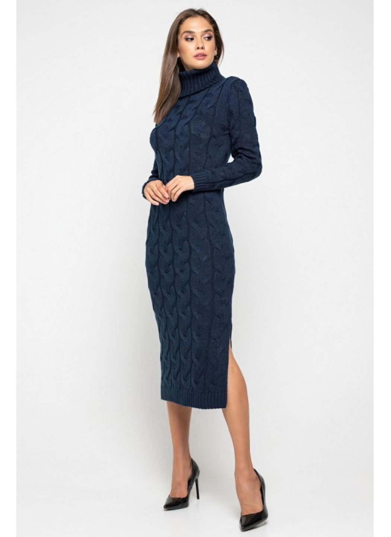 Женское Вязаное Платье Ангелина Темно-синий купить в Украине: фото, цена, характеристики, отзывы - фото 1