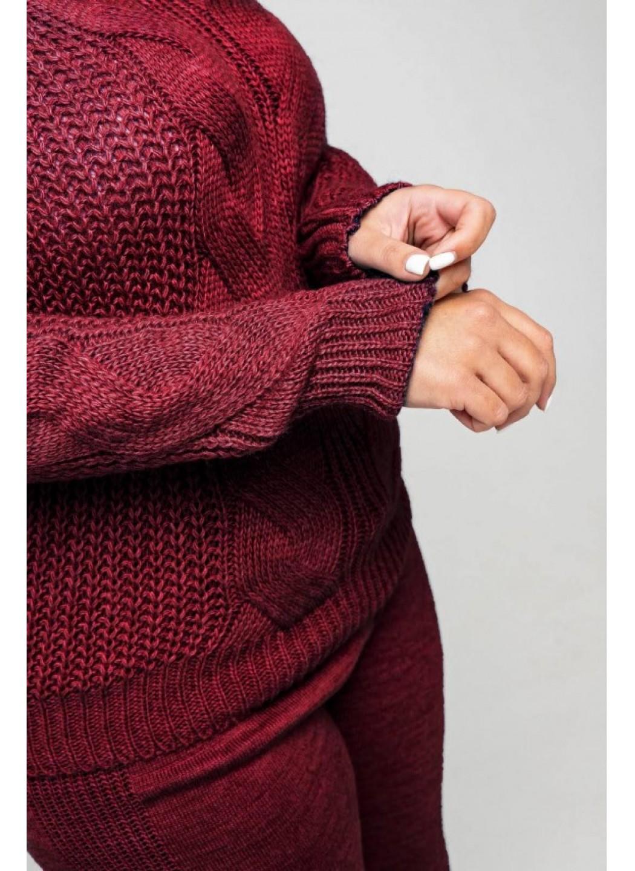 Женский Вязаный костюм Николь Бордо Size+ купить в Украине: фото, цена, характеристики, отзывы - фото 1