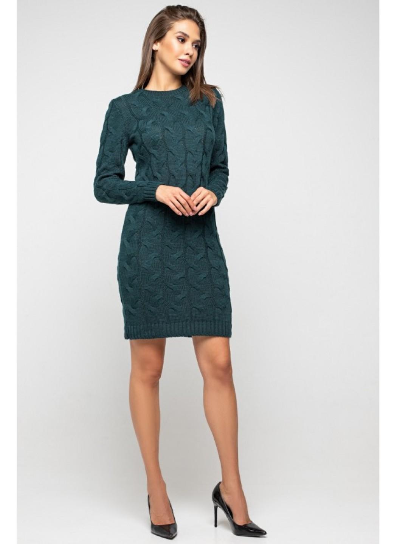 Женское Вязаное Платье Каролина Зеленый купить в Украине: фото, цена, характеристики, отзывы - фото 1