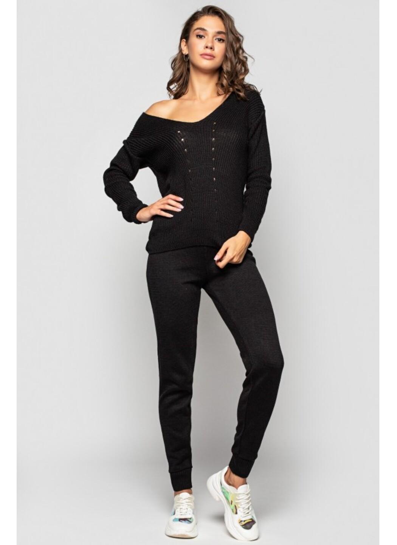 Вязаный костюм «Эля» - Черный