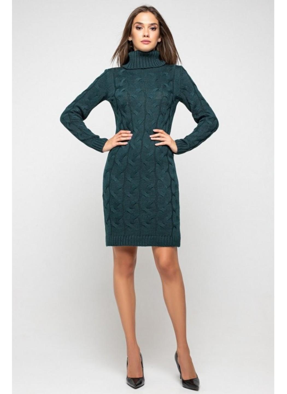 Женское Вязаное платье Сабрина Зеленый купить в Украине: фото, цена, характеристики, отзывы - фото 3
