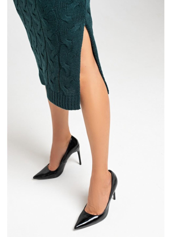 Женское Вязаное Платье Эвелина Зеленый купить в Украине: фото, цена, характеристики, отзывы - фото 3