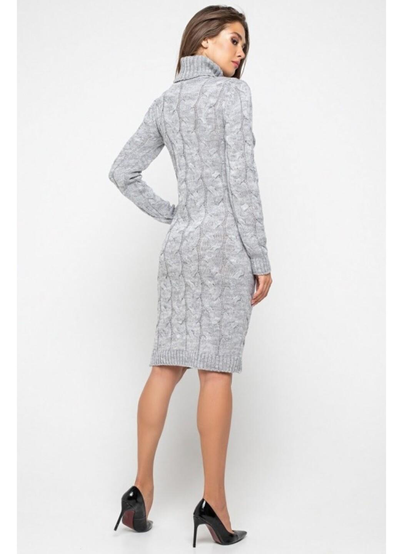 Женское Вязаное платье Сабрина Светло-серый купить в Украине: фото, цена, характеристики, отзывы - фото 3