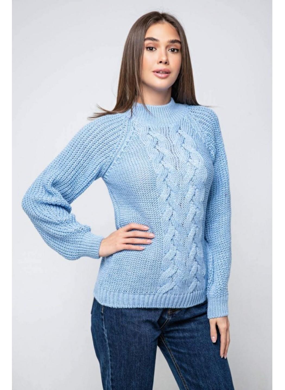 Женский Вязаный свитер Ника с люрексом Голубой купить в Украине: фото, цена, характеристики, отзывы - фото 1