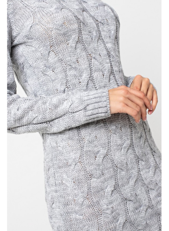 """Вязаное платье""""Каролина""""-светло-серый"""