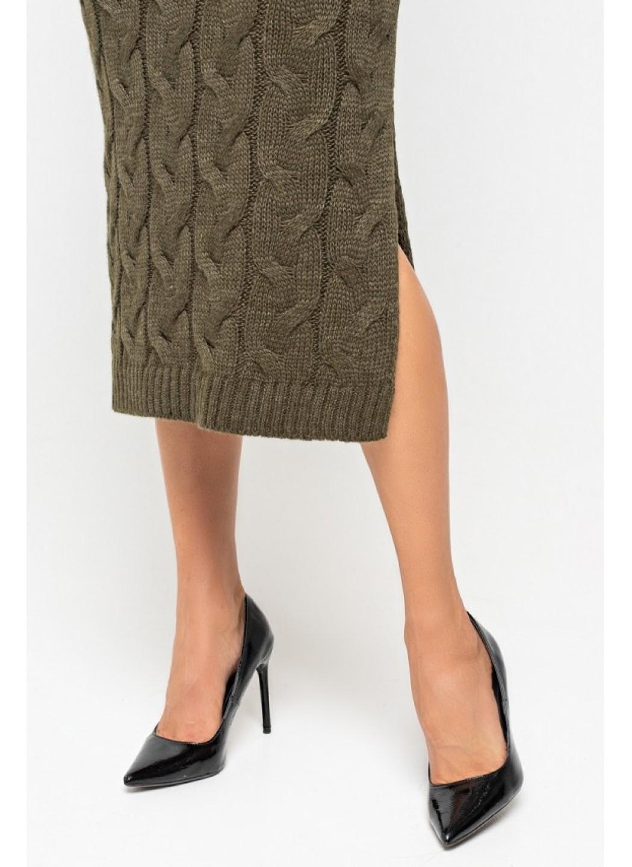 Женское Вязаное платье Ангелина Табак купить в Украине: фото, цена, характеристики, отзывы - фото 2