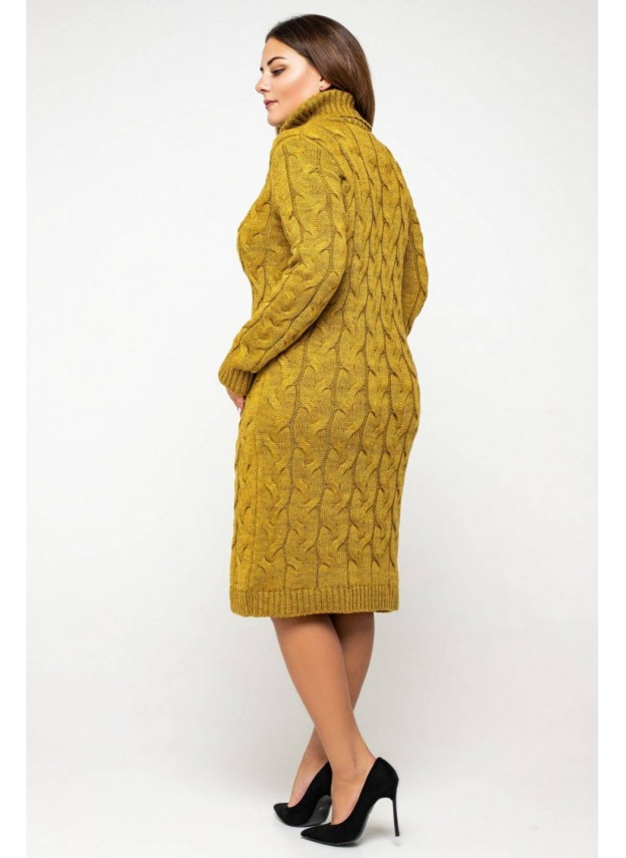 Женское Вязаное платье Сабрина Горчица Size+ купить в Украине: фото, цена, характеристики, отзывы - фото 2