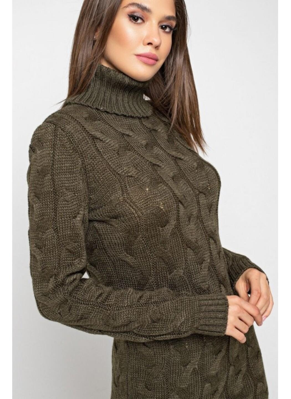 Женское Вязаное платье Сабрина Табак купить в Украине: фото, цена, характеристики, отзывы - фото 2