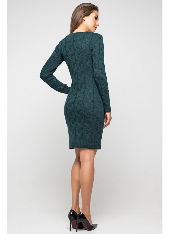 Женское Вязаное Платье Каролина Зеленый купить в Украине: фото, цена, характеристики, отзывы - фото 2