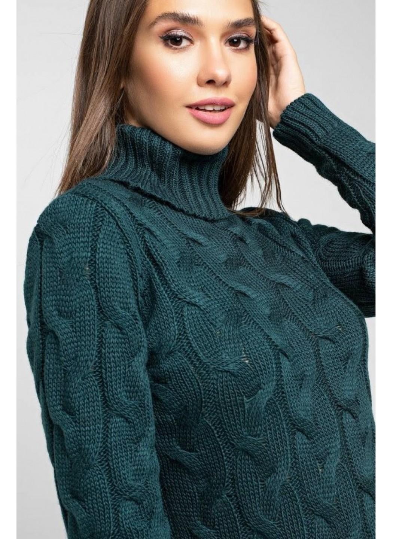 Женское Вязаное платье Сабрина Зеленый купить в Украине: фото, цена, характеристики, отзывы - фото 1