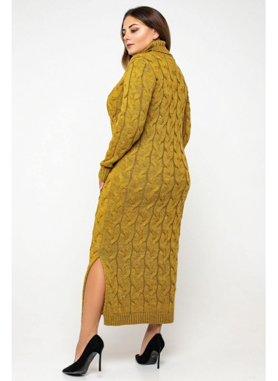 Женское Вязаное платье Ангелина Горчица Size+ купить в Украине: фото, цена, характеристики, отзывы - фото 2