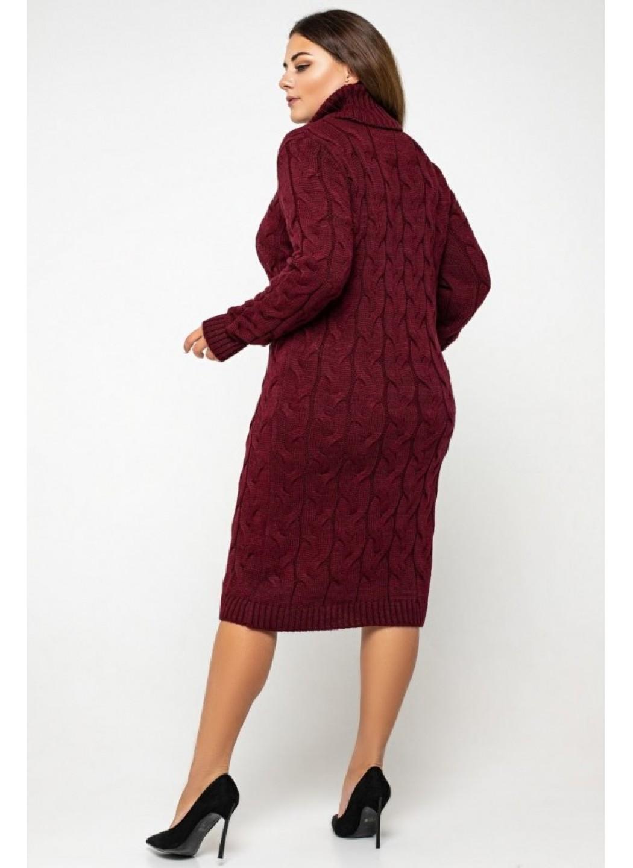 Женское Вязаное платье Сабрина Бордо Size+ купить в Украине: фото, цена, характеристики, отзывы - фото 3