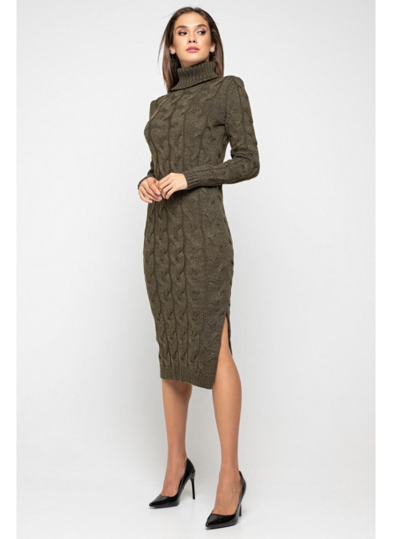 Женское Вязаное платье Ангелина Табак купить в Украине: фото, цена, характеристики, отзывы - фото 1