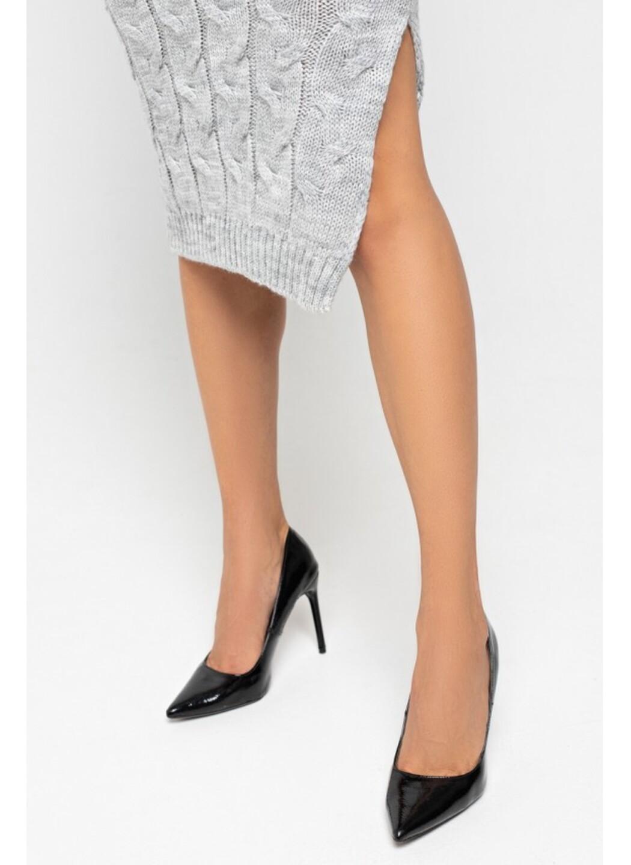Женское Вязаное Платье Эвелина Светло-серый купить в Украине: фото, цена, характеристики, отзывы - фото 2