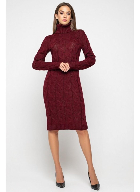 Женское Вязаное платье Сабрина Бордо купить в Украине: фото, цена, характеристики, отзывы - фото 1
