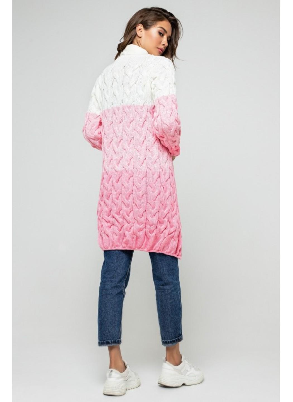 Женский Вязаный Кардиган Лало меланж Розовый Молочный купить в Украине: фото, цена, характеристики, отзывы - фото 3
