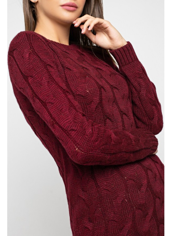 Женское Вязаное Платье Каролина Бордо