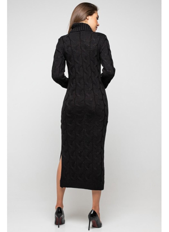 Женское Вязаное Платье Ангелина Черный купить в Украине: фото, цена, характеристики, отзывы - фото 2