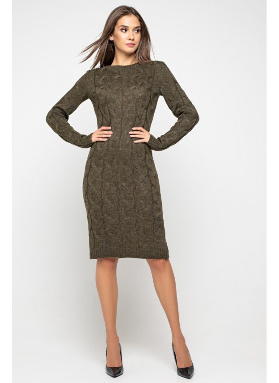Женское Вязаное Платье Каролина Табак купить в Украине: фото, цена, характеристики, отзывы - фото 1