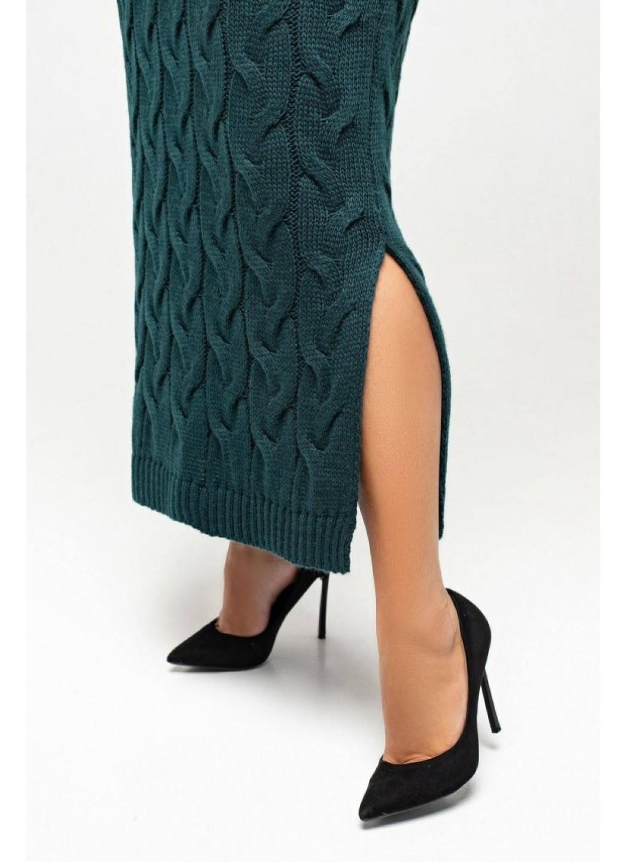 Женское Вязаное Платье Эвелина Зеленый Size+ купить в Украине: фото, цена, характеристики, отзывы - фото 2