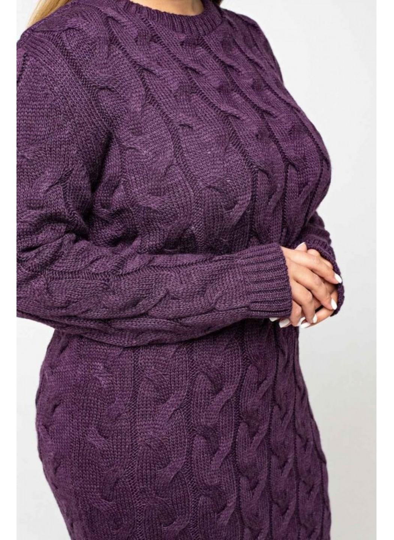 Женское Вязаное Платье Эвелина Баклажан Size+ купить в Украине: фото, цена, характеристики, отзывы - фото 3