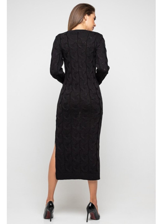 Женское Вязаное Платье Эвелина Черный купить в Украине: фото, цена, характеристики, отзывы - фото 3
