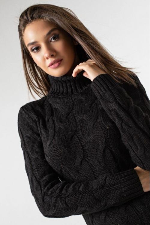 Женское Вязаное платье Сабрина Черный