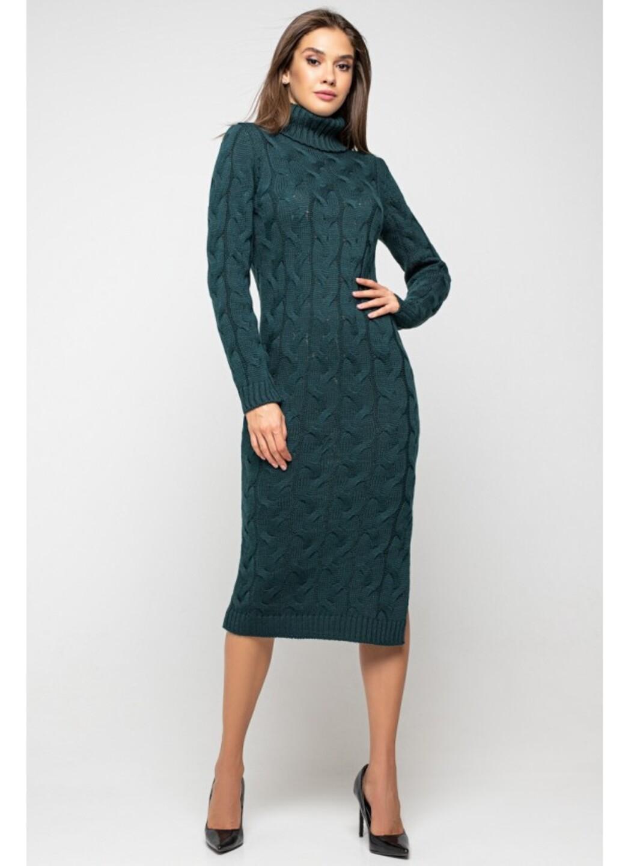 Женское Вязаное платье Ангелина Зеленый купить в Украине: фото, цена, характеристики, отзывы - фото 1