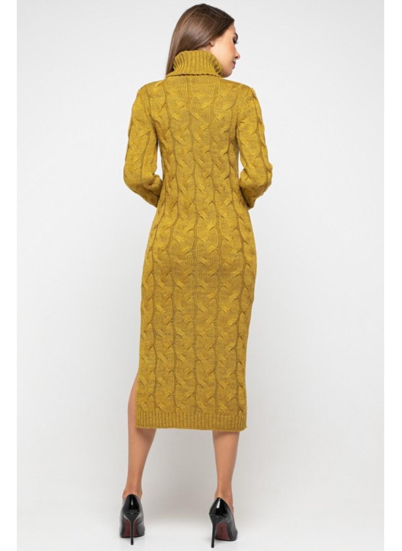 Женское Вязаное платье Ангелина Горчица купить в Украине: фото, цена, характеристики, отзывы - фото 3