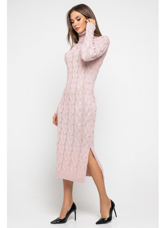 Женское Вязаное платье Ангелина Пудра купить в Украине: фото, цена, характеристики, отзывы - фото 1