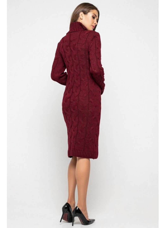 Женское Вязаное платье Сабрина Бордо купить в Украине: фото, цена, характеристики, отзывы - фото 2