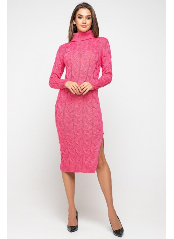 Женское Вязаное платье Ангелина Малиновый купить в Украине: фото, цена, характеристики, отзывы - фото 1