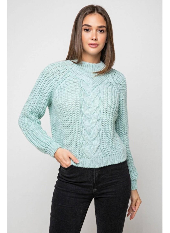 Вязаный свитер «Злата» с люрексом - лед