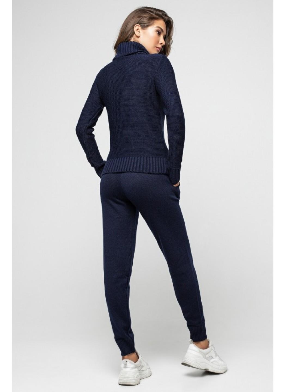 Женский Вязаный костюм Хейли Темно-синий купить в Украине: фото, цена, характеристики, отзывы - фото 2