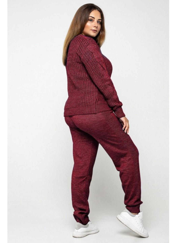 Женский Вязаный костюм Николь Бордо Size+ купить в Украине: фото, цена, характеристики, отзывы - фото 2